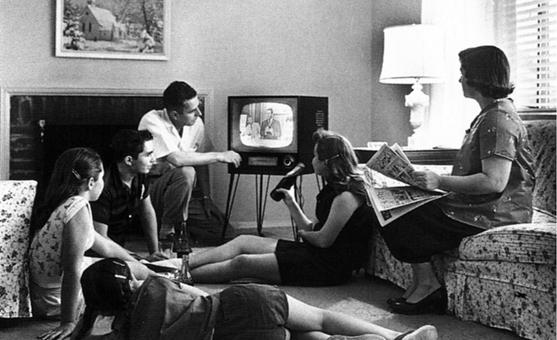 Televisión Familia Década del cincuenta